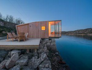 Moderne Hütten bieten Platz für bis zu 4 Personen