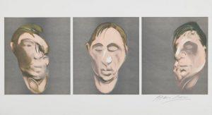 Francis Bacon Three Studies for a Self-Portrait 1983 Farblithographie, Unikatdruck neben der Auflage von 150 Exemplaren 33,2 x 88,5 cm, signiert