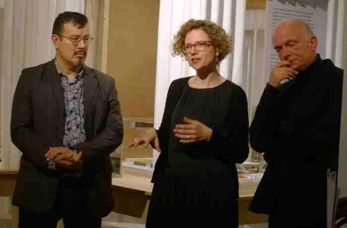 Foto (c) Kulturexpress, v.l.n.r.: Peter Cachola Schmal, Sofie de Caigny und Christoph Grafe