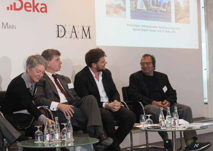 Foto (c) Kulturexpress, v.l.n.r.: Ina Hartwig, Matthias Danne, Bjarke Ingels und Douglas Durst